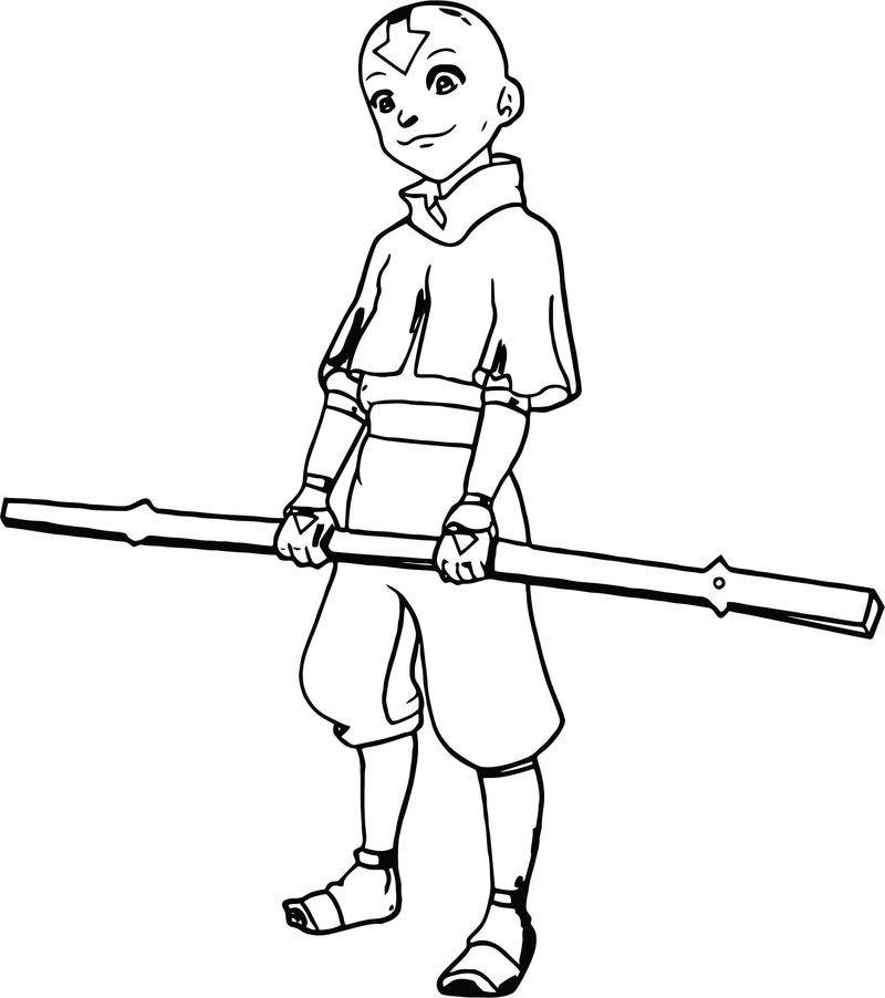Aang The Last Airbender Silver The Hedge Hog Avatar Aang Coloring Page