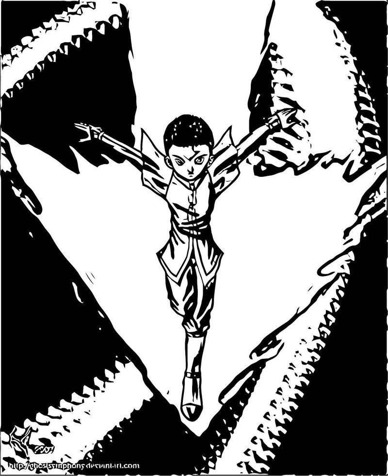 Aang The New Firebender Ghostsymphony Avatar Aang Coloring Page
