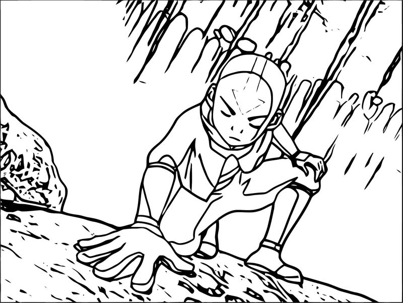 Aang Using The Vines Connection Avatar Aang Coloring Page
