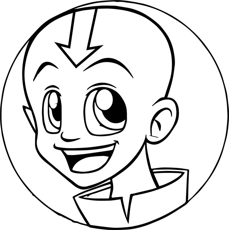 Aang Xd Avatar The Last Airbender Coloring Page
