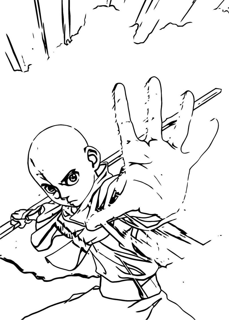 Aangfull Avatar Aang Coloring Page 21152
