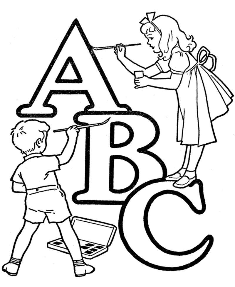 Abc Coloring Page