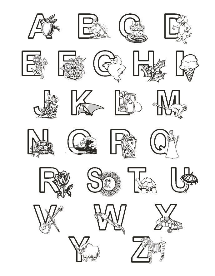 Abc Coloring Pages Printable