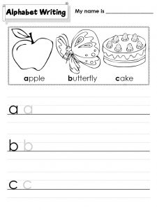 Abc worksheets free printable 001