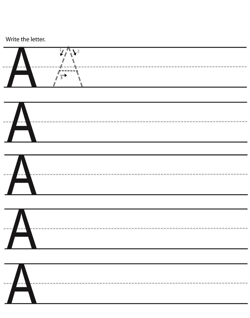 Abc Writing Worksheets For Kindergarten Activity