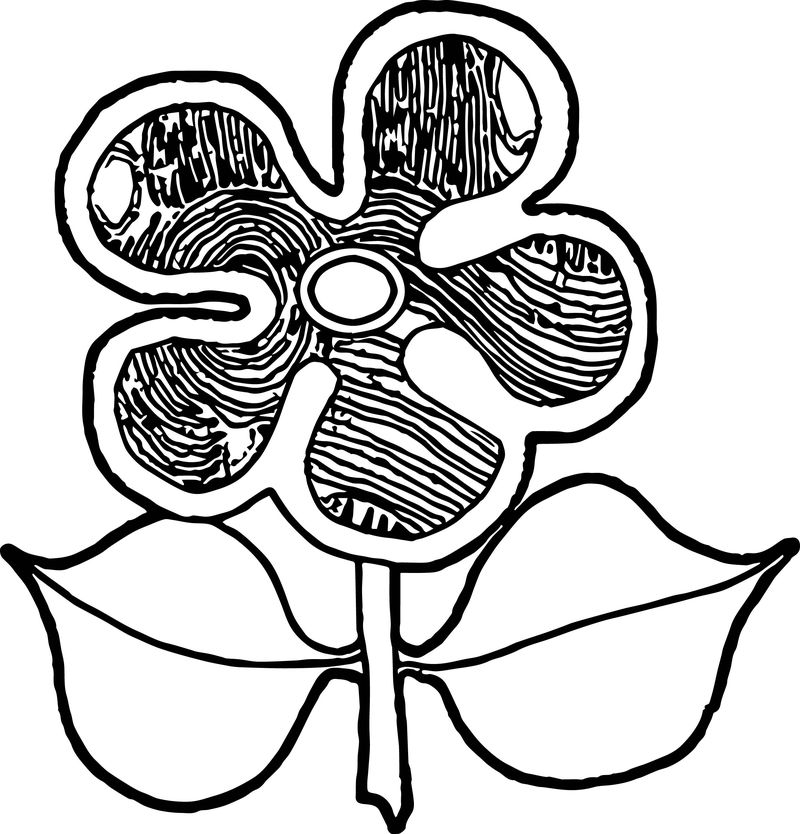 Aboriginal Flower Coloring Page