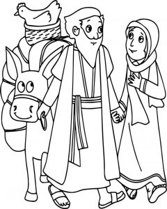Abraham and sarah camel chicken coloring page