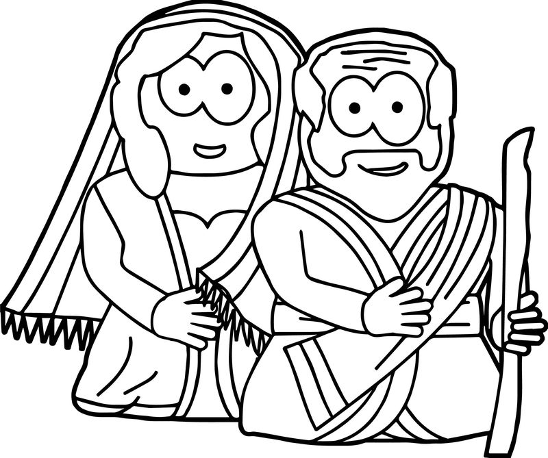 Abraham And Sarah Man Woman Coloring Page
