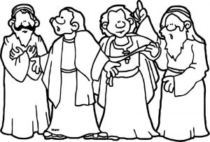 Abraham and sarah people coloring page