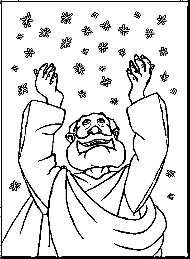 Abraham And Sarah Snow Coloring Page