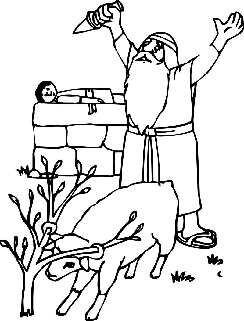 Abraham And Sarah Vow Coloring Page