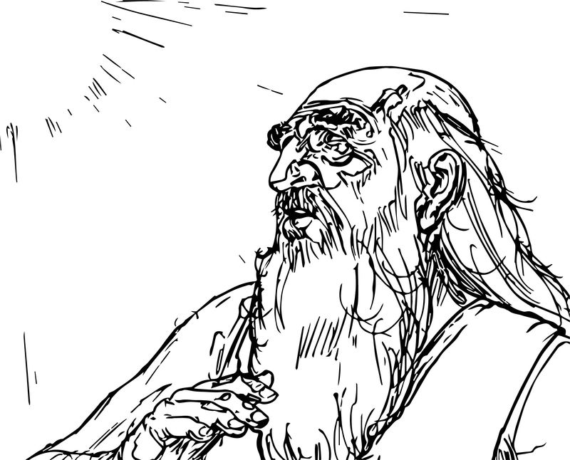 Abraham And Sun Sketch Sarah Coloring Page