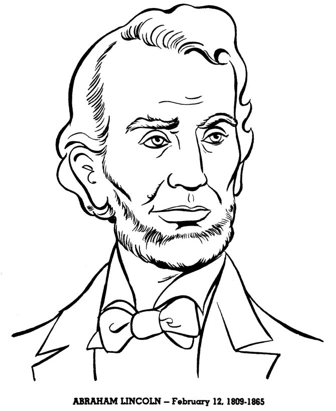 Abraham Lincoln 1809 1865 Coloring Page