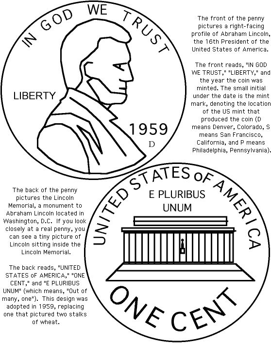 Abraham Lincoln Penny Worksheets