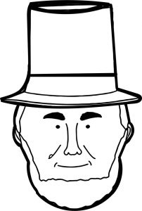 Abraham lincoln president face coloring page 001