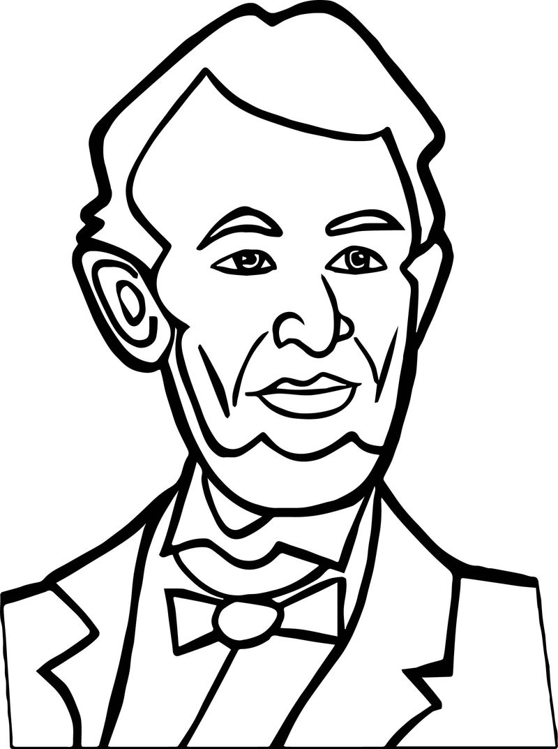 Abraham Lincoln President Good Coloring Page - Coloring Sheets