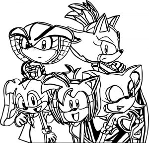 Active amy rose coloring page