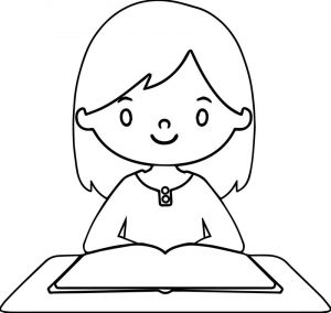 Activity day girl coloring page