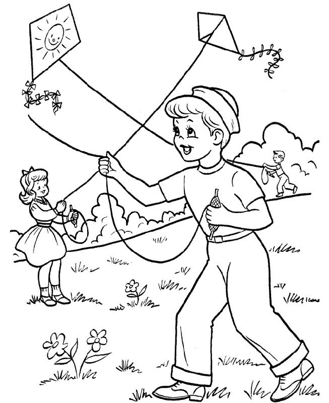 Activity Pages For Kids Kite