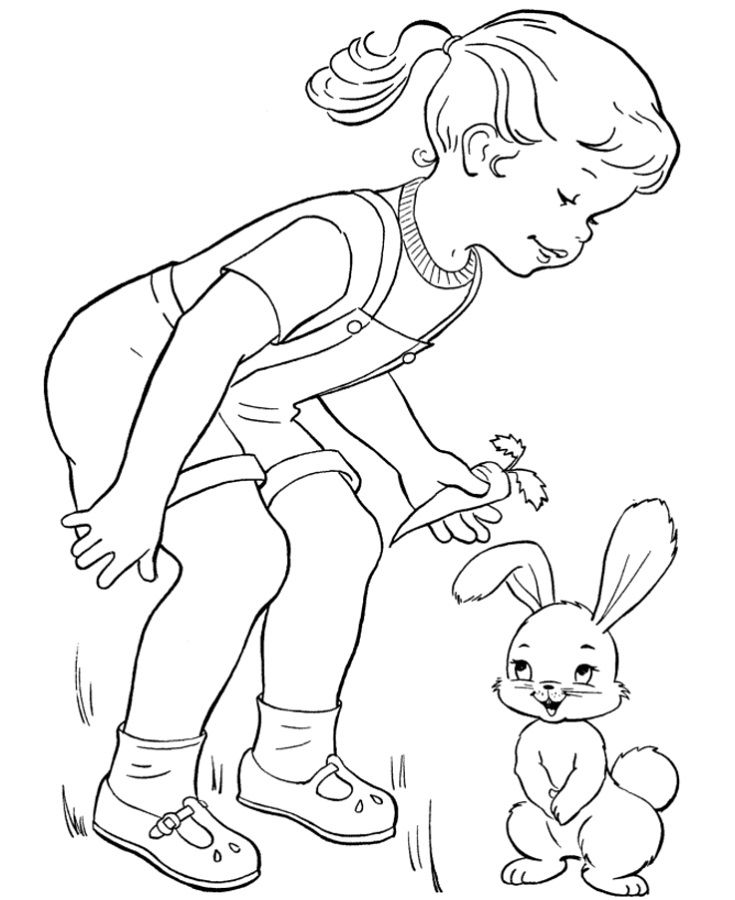 Activity Pages For Kids Rabbit