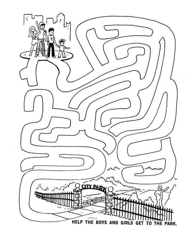 Activity Sheets For Kids Maze