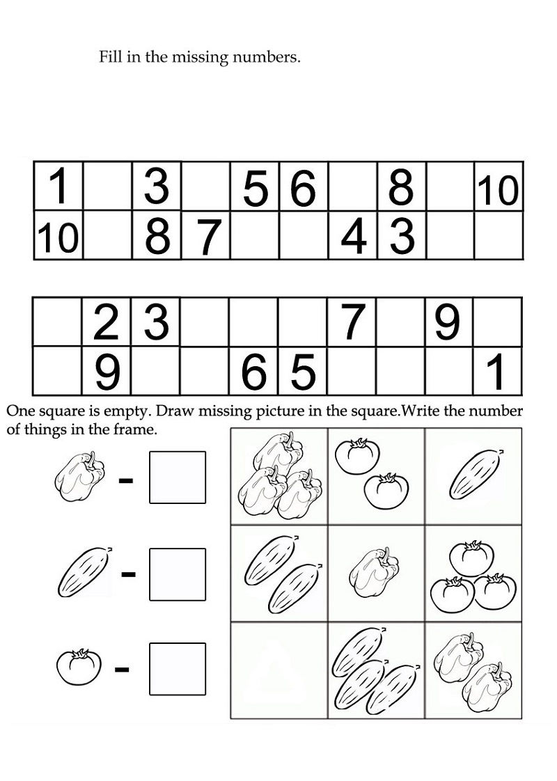 Activity Worksheets For Kids Practice