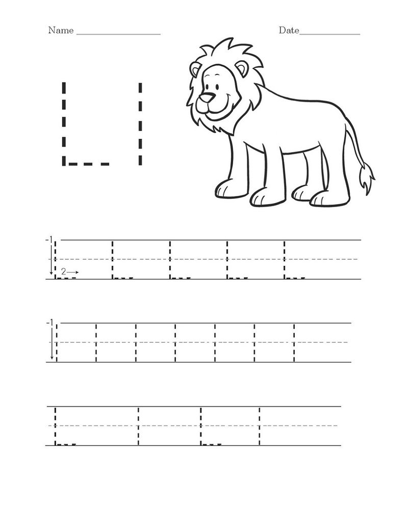 Activity Worksheets Letter