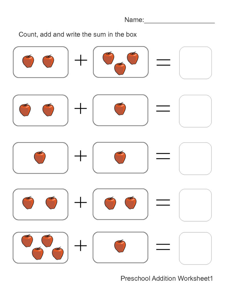 Addition Worksheets With Pictures 1 001