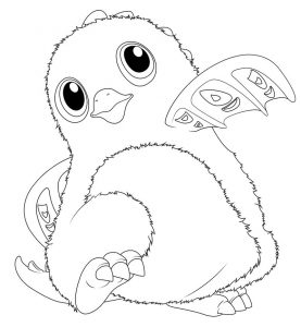 Adorable hatchimals coloring pages