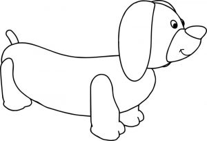 Adorn dog coloring page