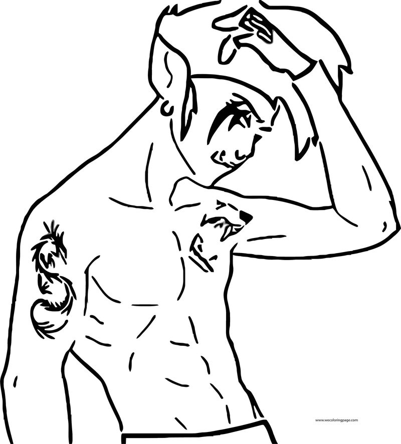 Adult Beast Boy Teen Titans Go Body Coloring Page