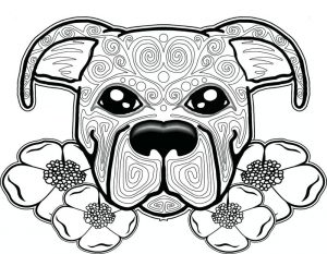 Adult coloring pages dog zen