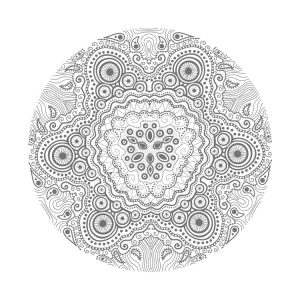 Adult coloring pages mandala