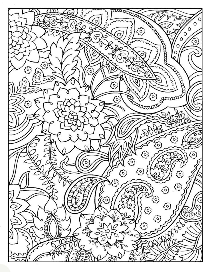 Adult Coloring Pattern Coloring Pages