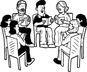 Adult family coloring page