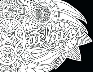 Adult swear word coloring page 1