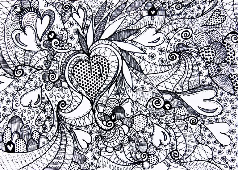 Adult Valentines Day Coloring Page