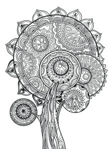 Advanced fall coloring pages for adults
