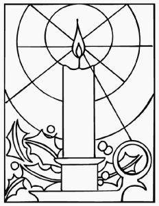 Advent wreath christmas coloring page candle