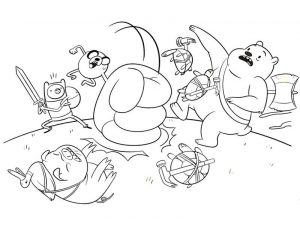Adventure time coloring pages jake hammerfist 001