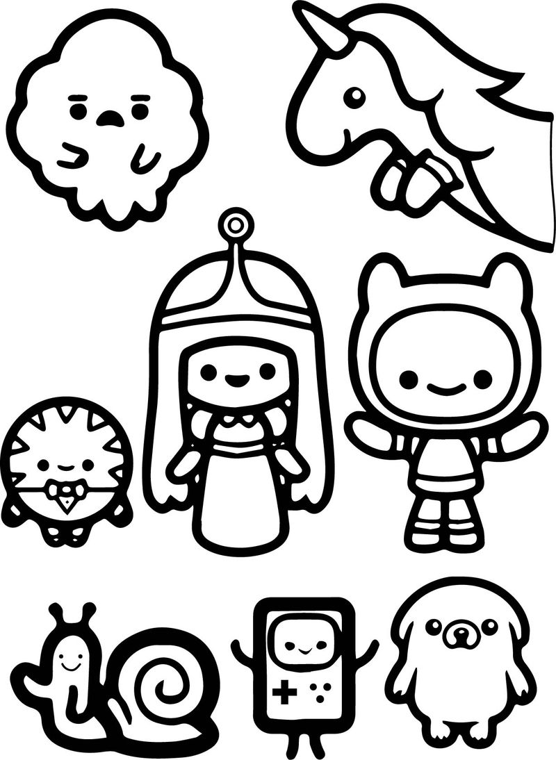 Adventure Time Finn And Jack Child Coloring Page
