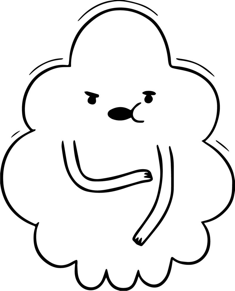 Adventure Time Ghost Princess Coloring Page