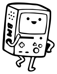 Adventure time television cartoon coloring page 01 01