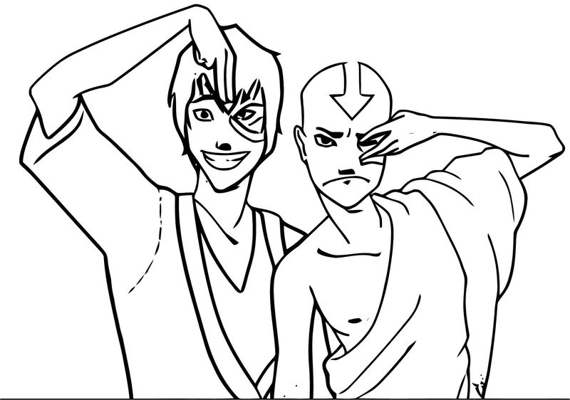 Afcbcfaffc Avatar Aang Coloring Page