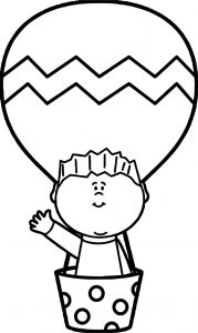 Air balloon in children coloring page