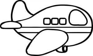 Airplane basic coloring page