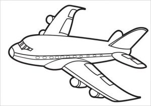 Airplane coloring pages for boys