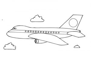 Airplane colouring sheet
