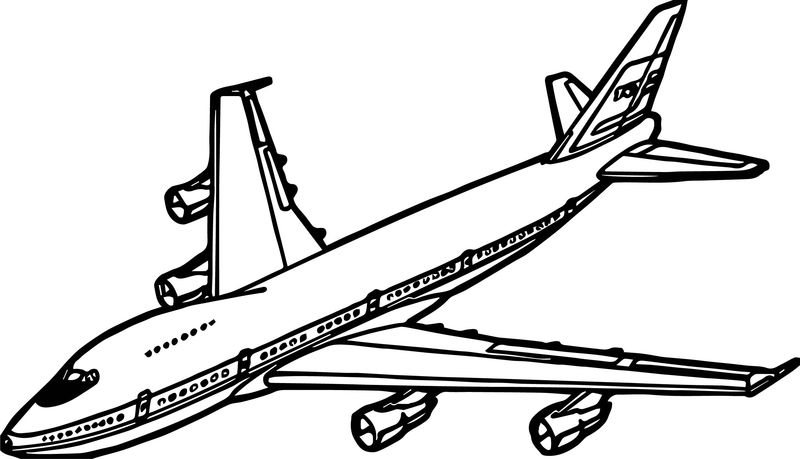 Airplane Coming Coloring Page