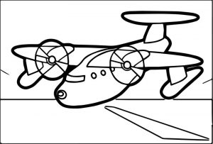 Airplane down coloring page